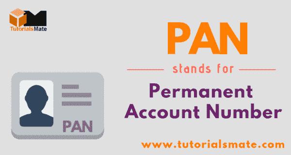 PAN Full Form