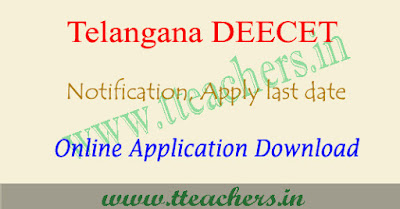 TS deecet application form 2018, Telangana dietcet apply online 2018