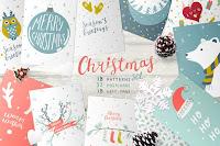 imagenes, pack, creative market, navidad, christmas, descargar, ilustraciones