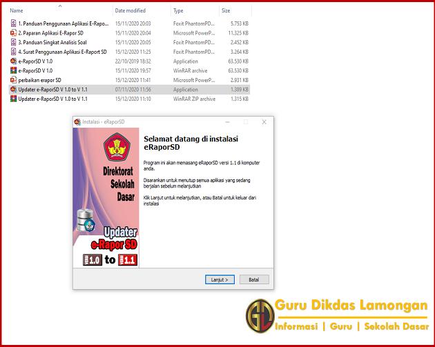 Langkah Update Versi Aplikasi E-Raport SD Resmi Dari Direktorat Sekolah Dasar