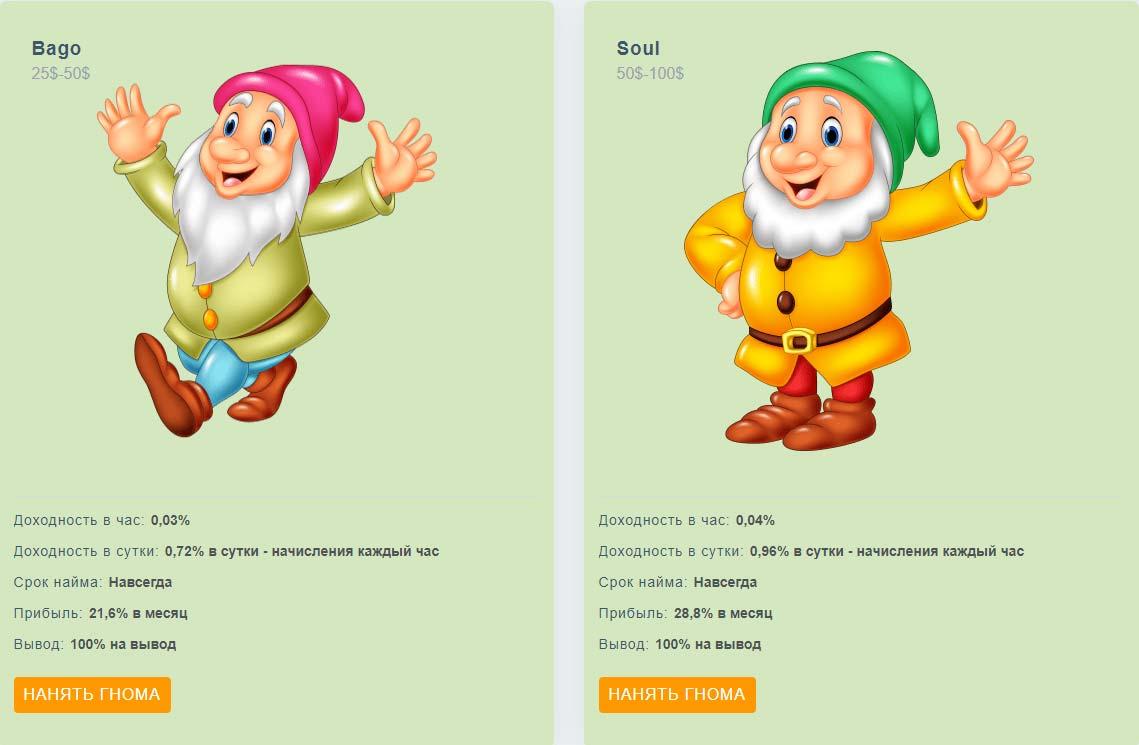 Инвестиционные планы Gnome-Game 2