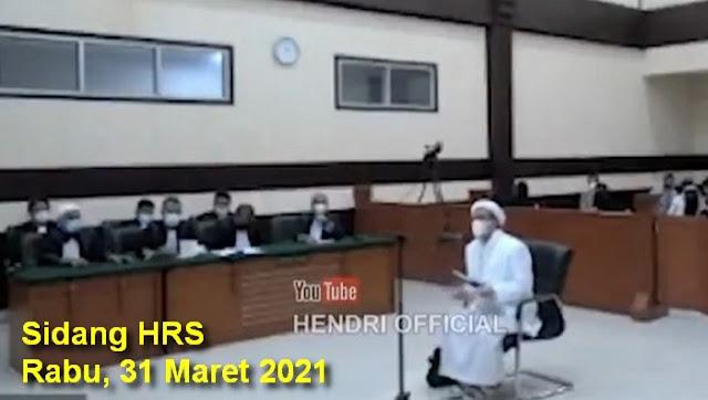 Ha6ib Ri2ieq Protes: Giliran Jaksa Ditayangkan, Saya Eksepsi Tidak