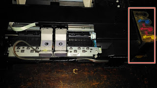 memasang infus printer canon ip2770
