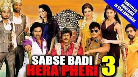 Poster Of Sabse Badi Hera Pheri 3 In Hindi Dubbed 300MB Compressed Small Size Pc Movie Free Download Only At worldfree4u.com