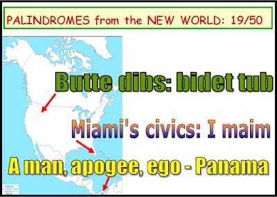 wordplay; map; palindrome; America; geography; Giorgio Coniglio