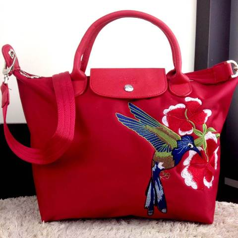 Tas Import Batam | Long Champ Le Pliage Bird & Flowers Medium
