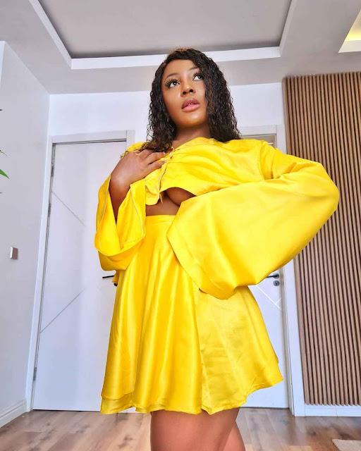 BBNaija Ifu Ennanda shows off her under breast in new photos(Photos)