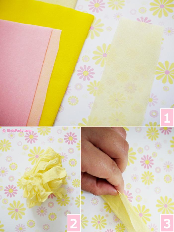 DIY Crepe Paper Flower Pomanders Party Decorations - BirdsParty.com