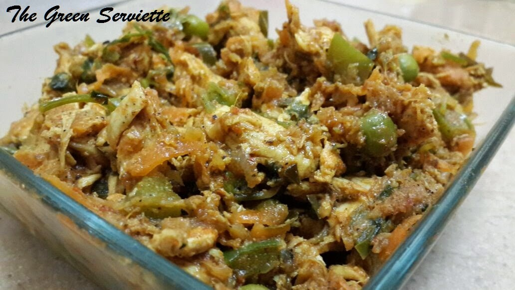 The Green Serviette: Mixed Vegetable and Chicken Filling