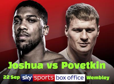 british, Anthony Joshua, fight, russia, Alexander Povetkin,  Wembley stadium, London,  September.