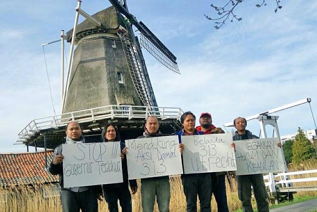 """Masyarakat Indonesia di Belanda Dukung Aksi Damai 313, """"Stop Gubernur Terdakwa!"""""""
