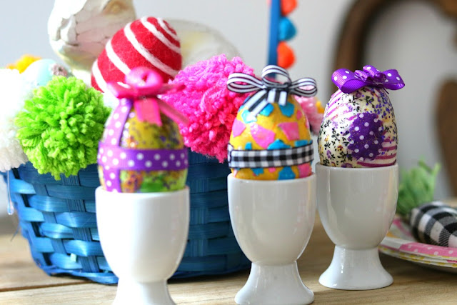 athomewithjemma, handmade, homemade, diy, craft, easy, Easter, Eggs, modgpodge, glue, glitter,
