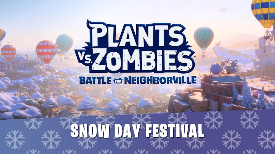 plants vs zombies battle for neighborville snow day festival event live now pc ps4 xb1