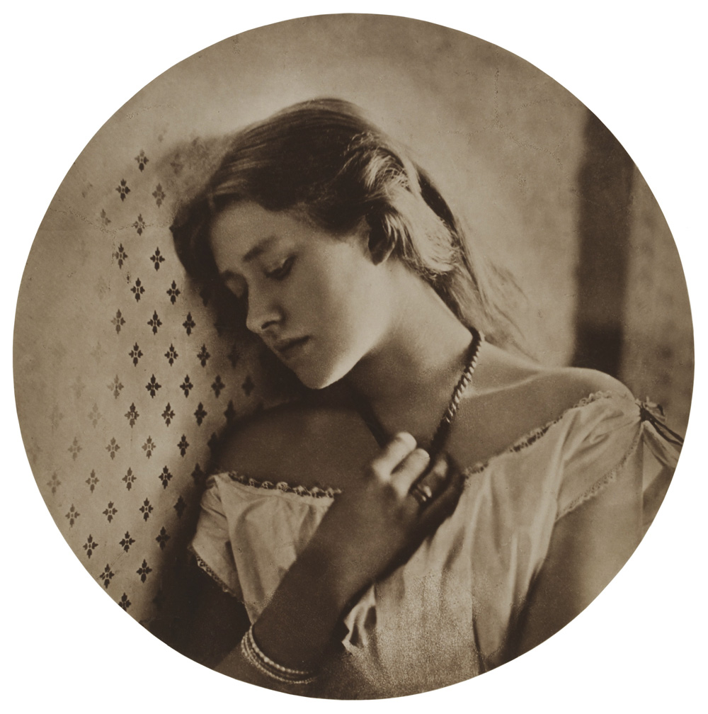 Sadness (Ellen Terry) by Julia Margaret Cameron - Victorian Giants exhibition, National Portrait Gallery, London