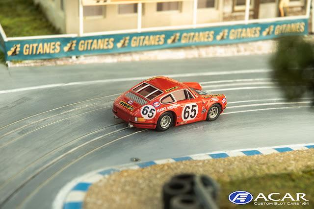 Porsche 911S 24h Le Mans 1970 Claude Haldi-HART SKI Racing #59