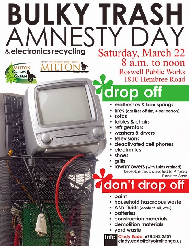 Roswell Recycling Center >> .: Bulky Trash Amnesty Day set for Saturday, March 22.