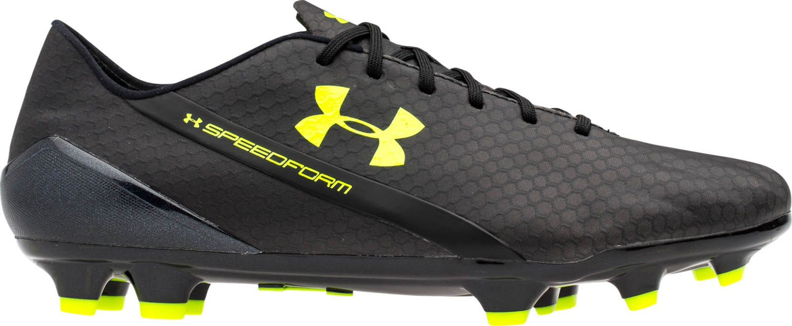 black and yellow under armour cleats