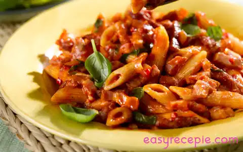 Delicious Spicy Pasta Recipe at home restaurant style