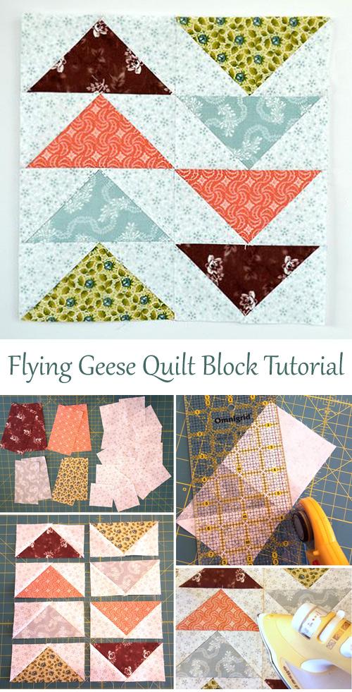 Flying Geese Quilt Block Tutorial