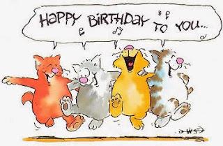 happy birthday business cat