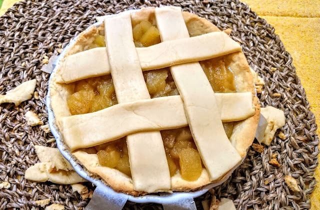 Cinnamon Apple Pie with lattice ready to bake