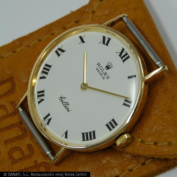 Reloj Rolex Cellini después de su restauración y reparación.
