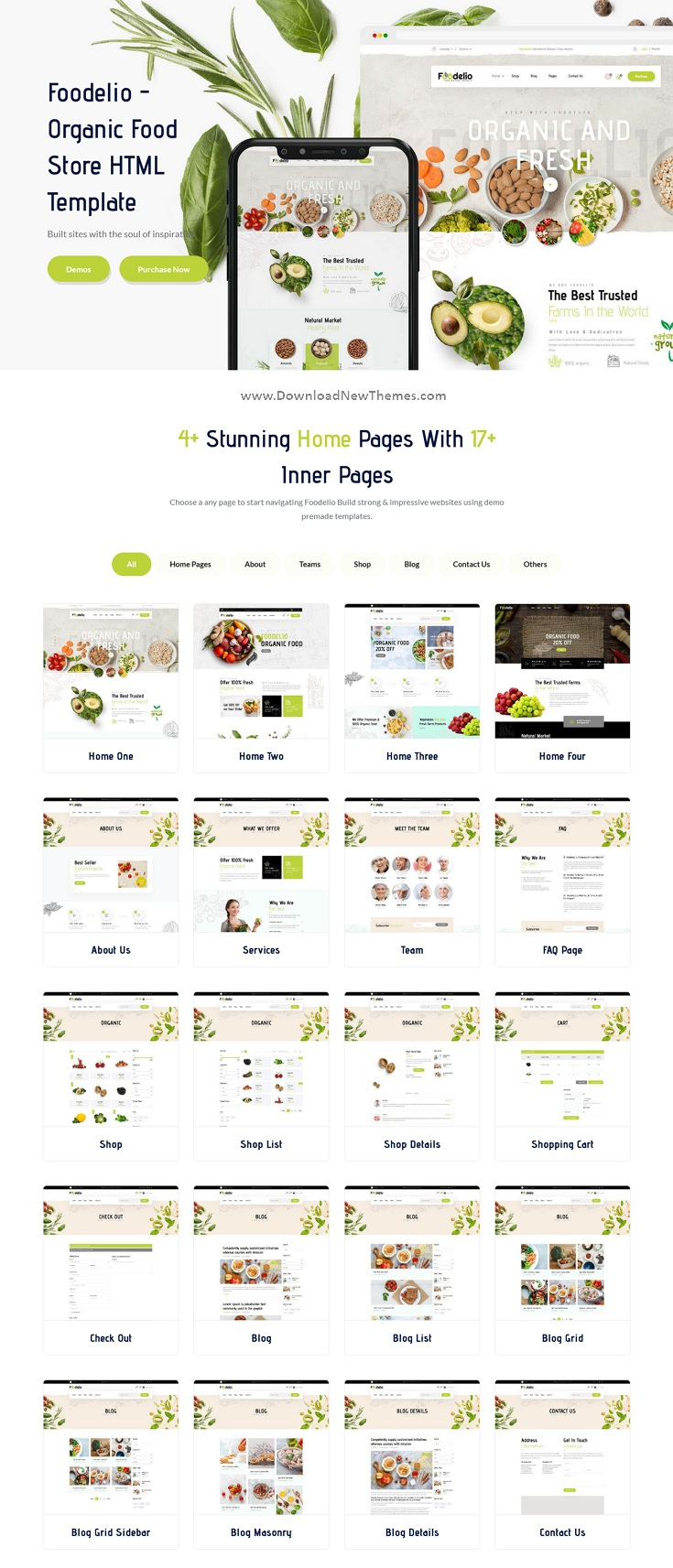 Organic Food Store Bootstrap Template
