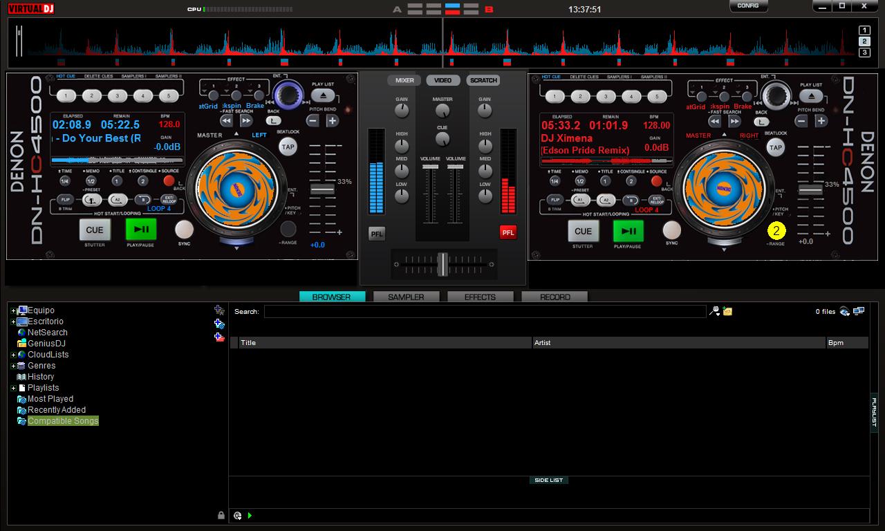 Aventuras y Opiniones de un DJ Ecuatoriano: Nuevos skins ... Virtual Dj Skins Denon