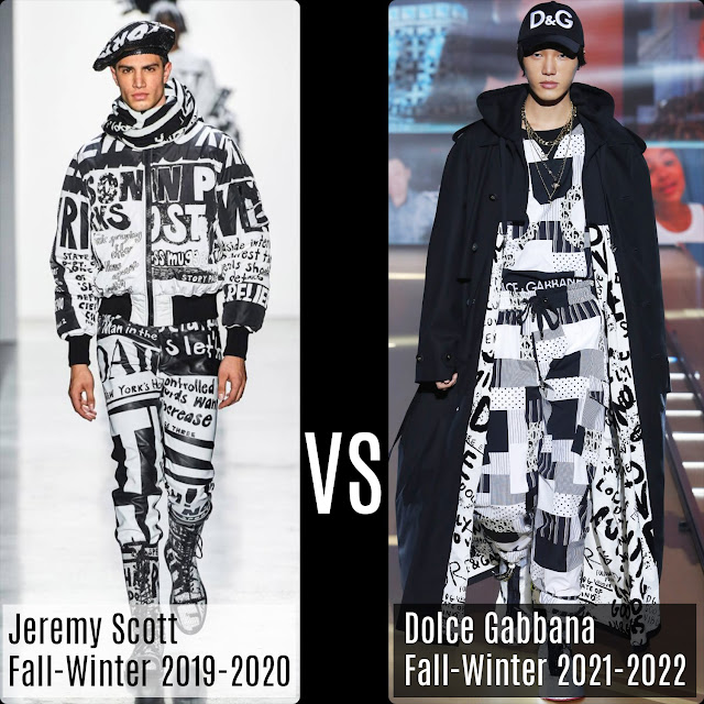 Jeremy Scott Fall-Winter 2019-2020 vs Dolce Gabbana Fall 2021-2022