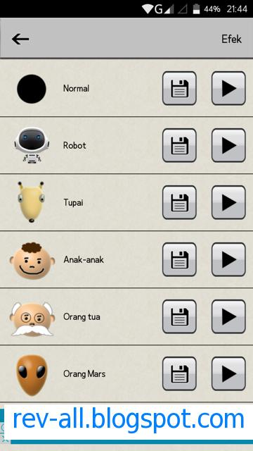 daftar 30 pengubah suara - aplikasi android Voice Changer (rev-all.blogspot.com)