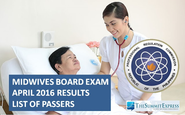 April 2016 Midwife board exam results