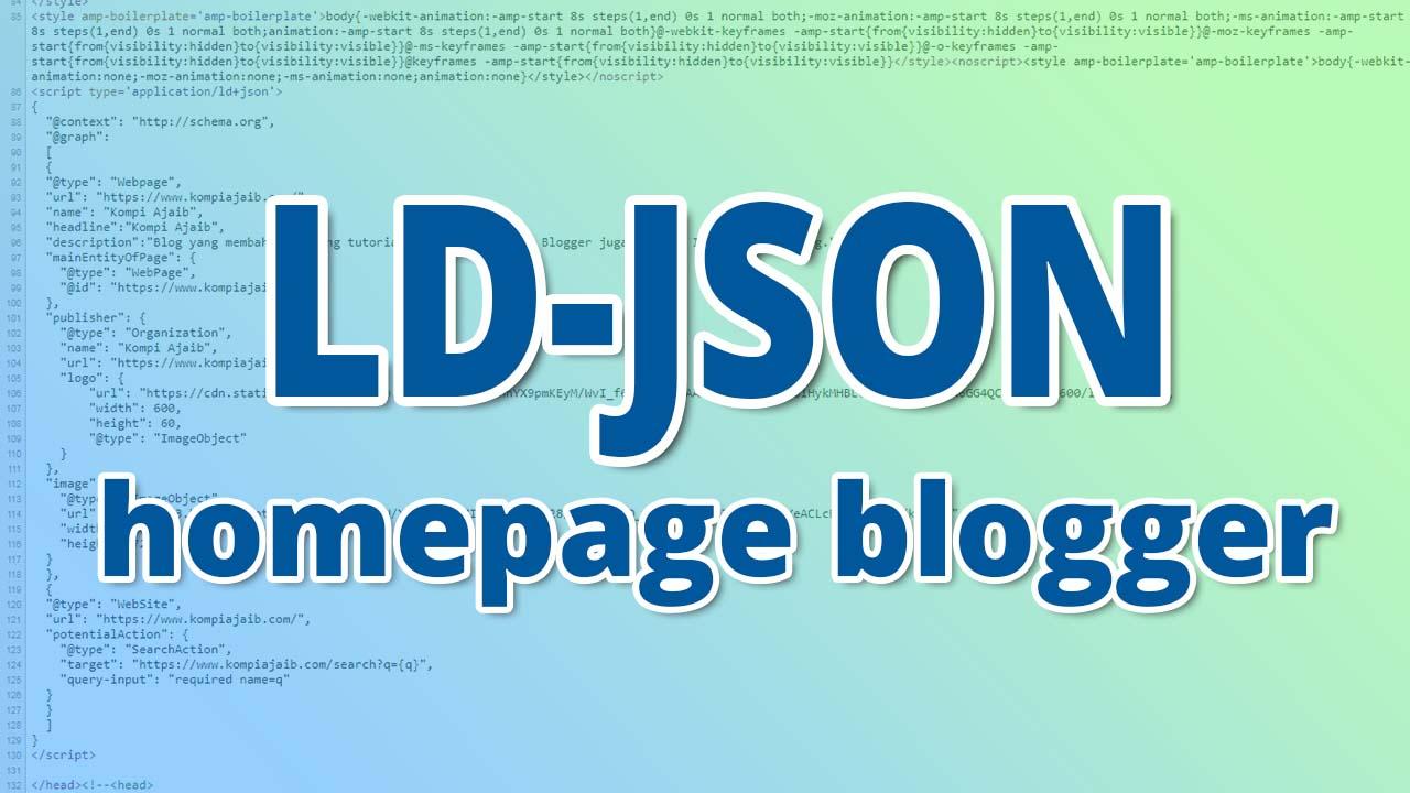 LD-JSON Script Schema.org Untuk Homepage Blogger