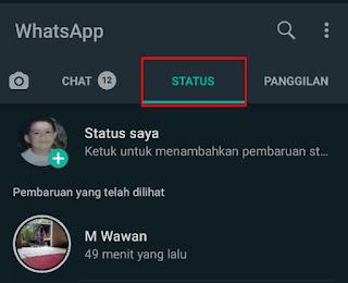 Cara Menghilangkan Status Whatsapp Teman (Dibisukan)