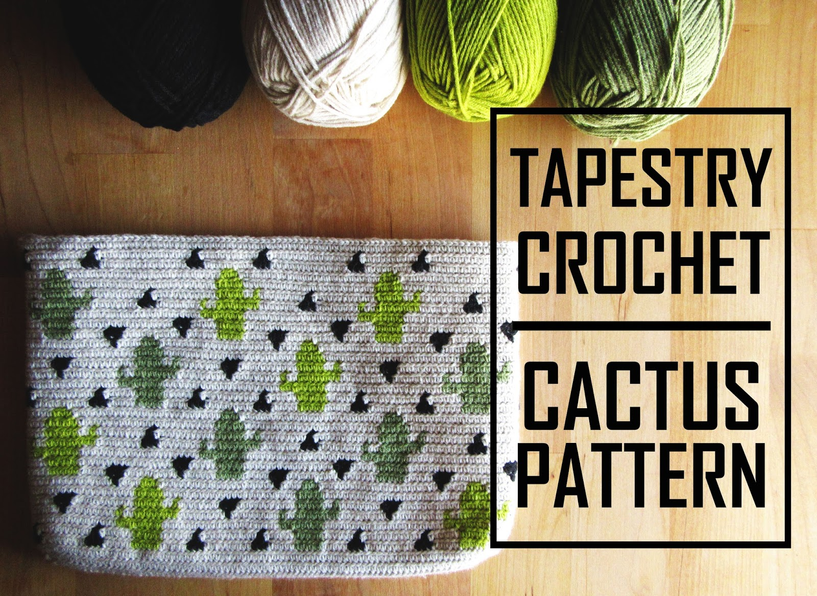 The story of a mulberry: Tapestry Crochet Cactus Pattern