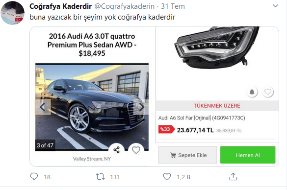 Audi A6 vs. Sol Farı