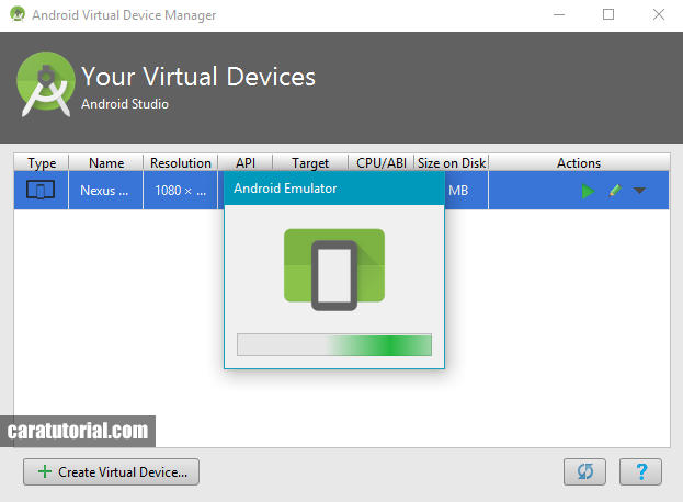 Android Emulator - Android Virtual Device (AVD)