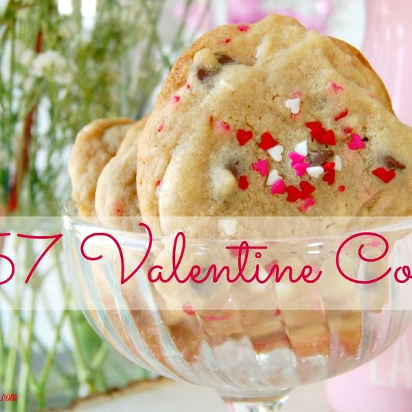 357 Valentine Chocolate Chip Cookies