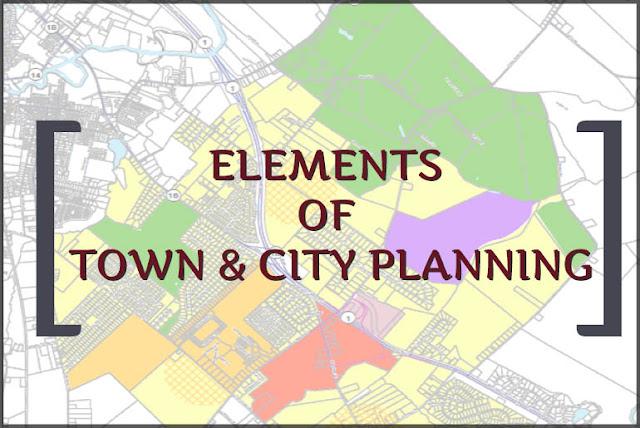 टाउन एंड सिटी प्लानिंग के एलिमेंट्स   ELEMENTS OF TOWN & CITY PLANNING