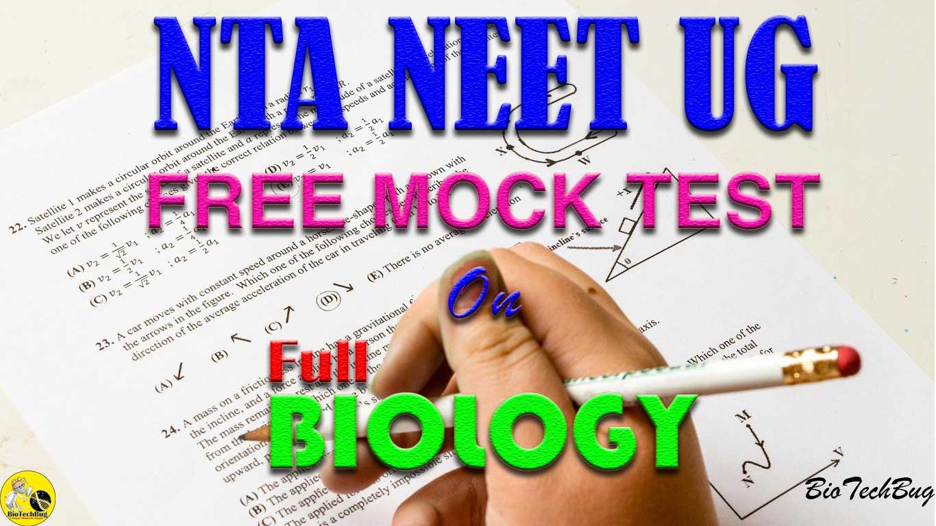 Full Biology Mock test for NEET
