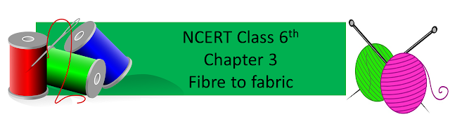 NCERT class 6th chapter 3 fibre to fabric, NCERT class 6 free solution, CTET Science Content, CTET Paper II