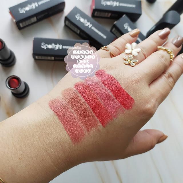 REVIEW Spotlight Cosmetics Lipstick Swatches