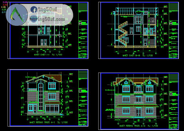 مجموعة مخططات منازل 30 مخطط اوتوكاد Dwg