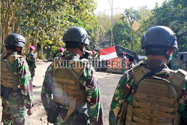 Marinir TNI AL Dan Amerika Laksanakan Upacara Peringatan HUT RI-74 Di Hutan Selogiri