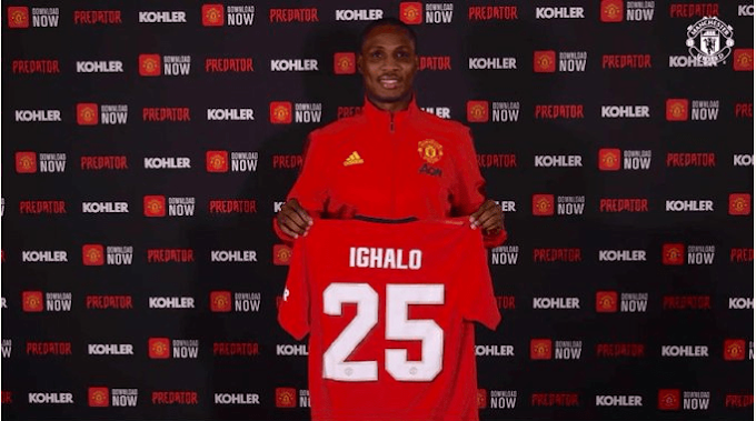 Manchester United banned Odion Ighalo from training ground- See shocking reason