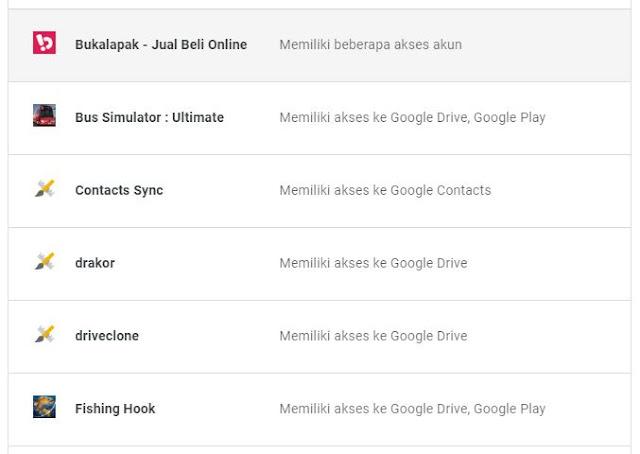 google menyimpan semua aplikasi yang kamu pakai
