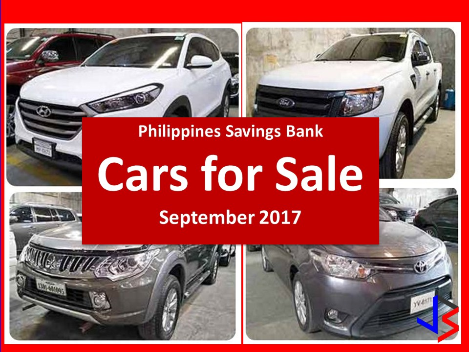 The following are pre-owned or foreclosed cars that are being sold by the Philippine Savings (PS) Bank.   Contact numbers and information are provided below for inquiries. Please be reminded that we are not affiliated with PS Bank and the details provided below are taken on their website for general information and advertisement purpose only.  Any contract you entered with the bank is at your own risk and account.