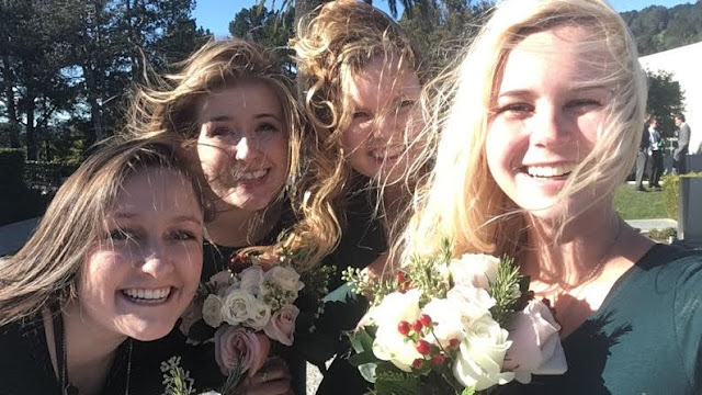 Bridesmaids in california