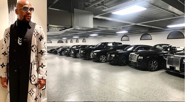 Check out Floyd Mayweather Garage that got people talking on social media (Video)