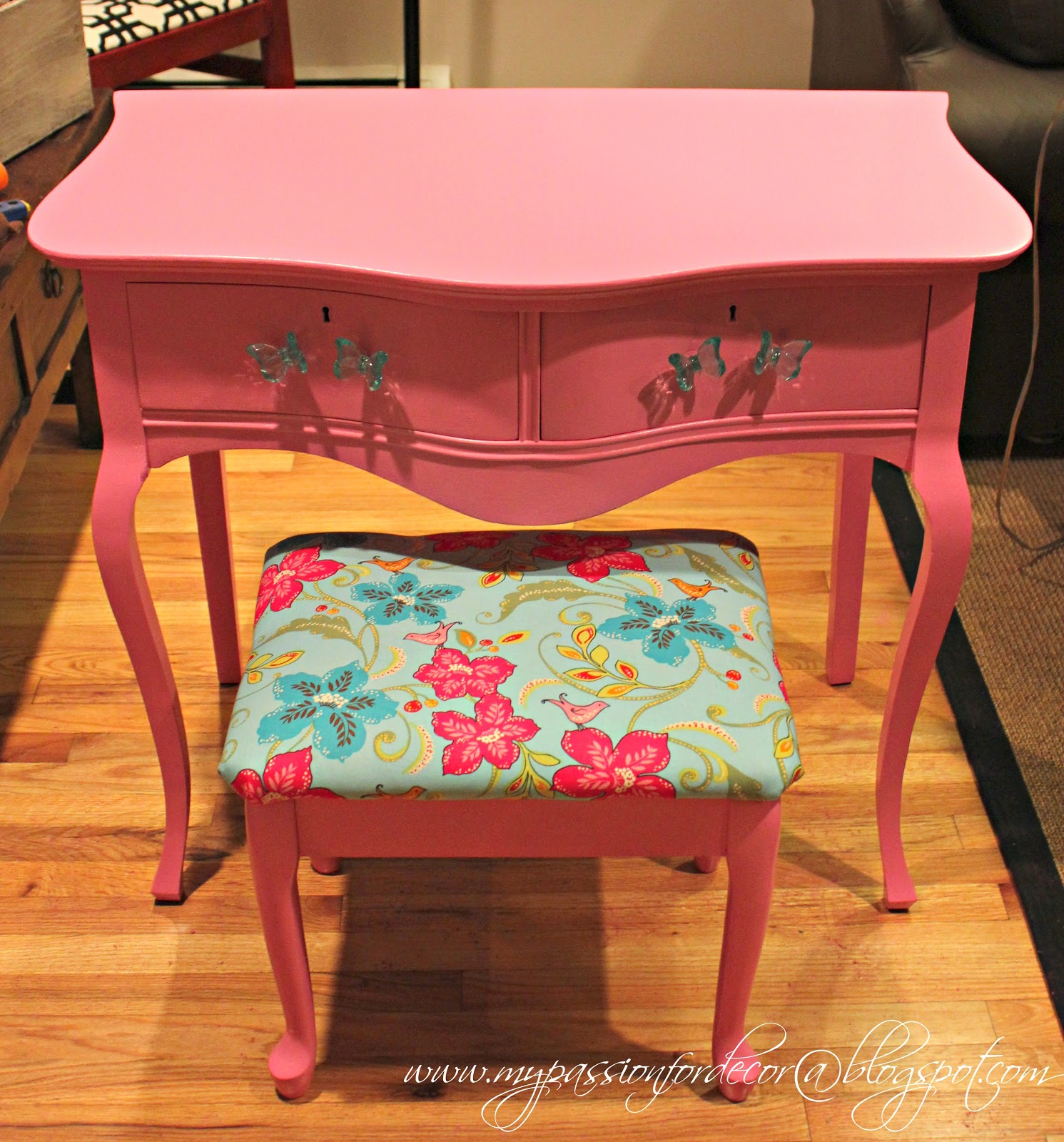 hot pink office chair argos home desk and set my passion for decor vanity