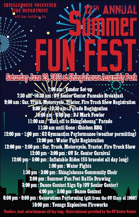6-29 Shinglehouse Annual Summer Fun Fest